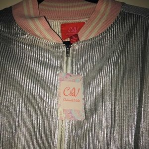 Chelsea & Violet Jackets & Coats - NWT Chelsea & violet silver jacket